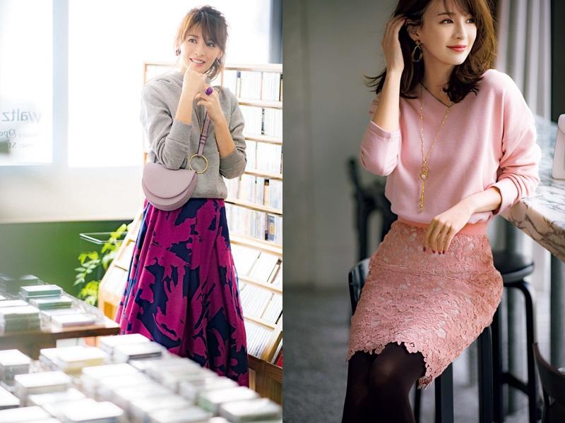 ニット×スカートのワンパターンを打破!プチプラアイテム投入でサクッと解決コーデ